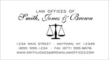 Engraved & Thermographed Legal Stationery, Letterhead